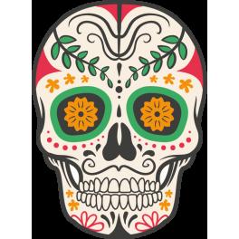 stickers t te de mort mexicaine color stickers. Black Bedroom Furniture Sets. Home Design Ideas