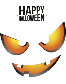 Stickers halloween yeux citrouille