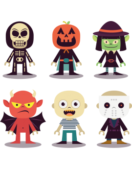 Stickers kit halloween enfants déguisements monstre