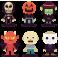 Stickers kit halloween enfants déguisements monstre