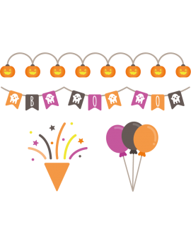 Stickers fête halloween