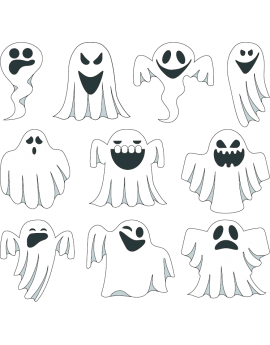 Stickers kit halloween fantômes
