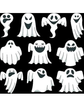 Stickers kit halloween fantômes
