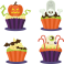 Stickers kit cup cake halloween