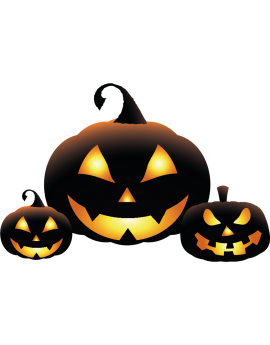 Stickers kit citrouille halloween