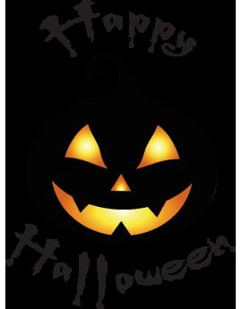 Stickers happy halloween citrouille