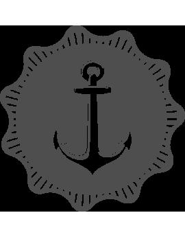Stickers ancre océan bateau mer