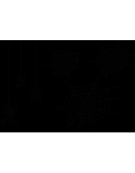 Stickers halloween araignés toiles d'araigné