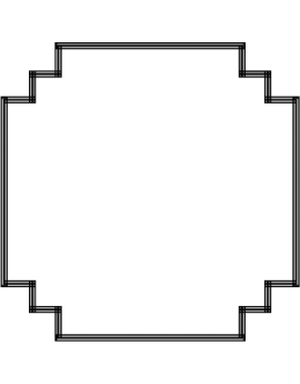 Stickers cadre droit design moderne