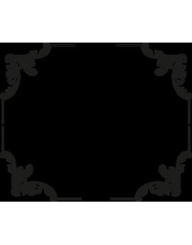 Stickers coin cadre encadrement floral baroque