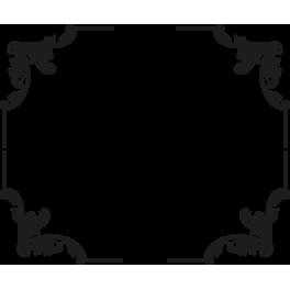 stickers coin cadre encadrement floral baroque color stickers. Black Bedroom Furniture Sets. Home Design Ideas