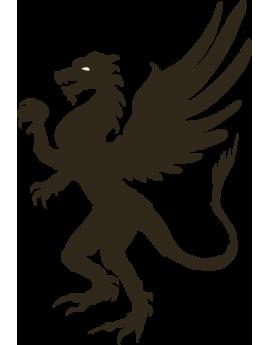 Stickers dragon ailé Asie