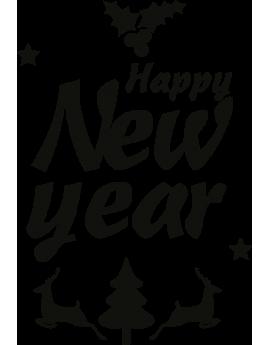 Stickers kit noël Happy new year