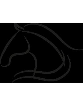 Stickers tête de cheval design moderne