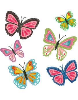 Stickers kit papillons enfants fille