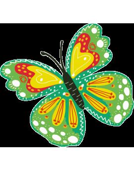 Stickers papillon vert enfant fille