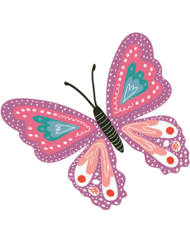 Stickers papillon rose enfant fille