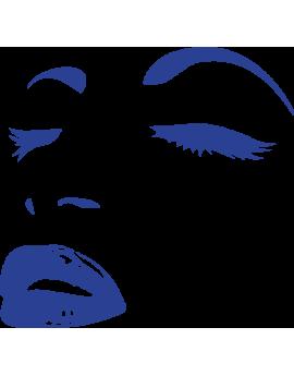 Stickers visage femme yeux bouche
