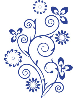 Stickers arabesque floral