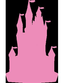 Stickers chambre fille château de princesse