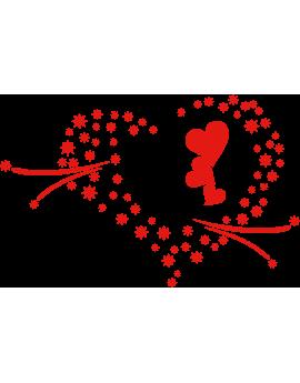 Stickers amour cœur moderne étoiles