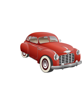 Stickers voiture ancienne vintage rouge