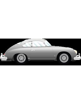 Stickers voiture ancienne vintage grise