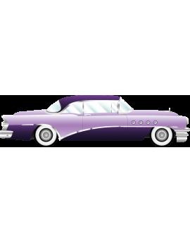 Stickers voiture ancienne vintage mauve