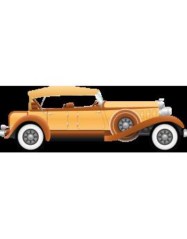 Stickers voiture ancienne vintage marron