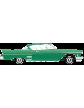 Stickers voiture ancienne vintage vert