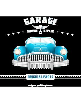 Stickers voiture ancienne vintage bleu