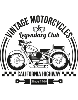 Stickers vintage motorcycles legendary club