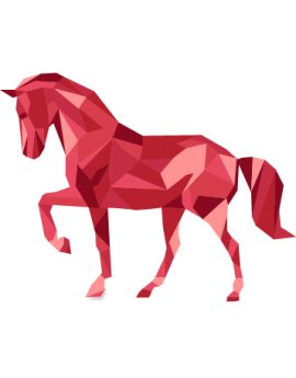 Stickers cheval rouge moderne design