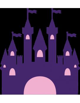 Stickers château de princesse fille