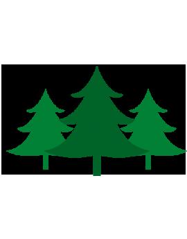 Stickers kit sapin vert