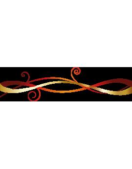 Stickers guirlande arabesque déco de noël
