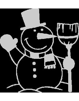 Stickers bonhomme de neige
