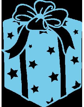 Stickers cadeau de noël