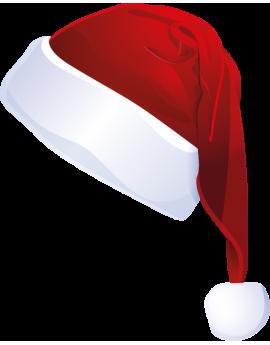 Stickers bonnet du père noël rouge et blanc