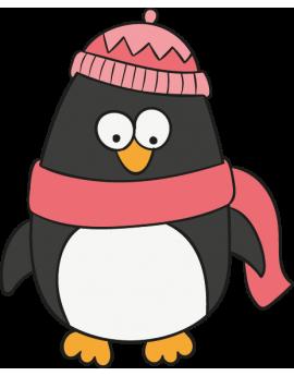Stickers pingouin fantaisie