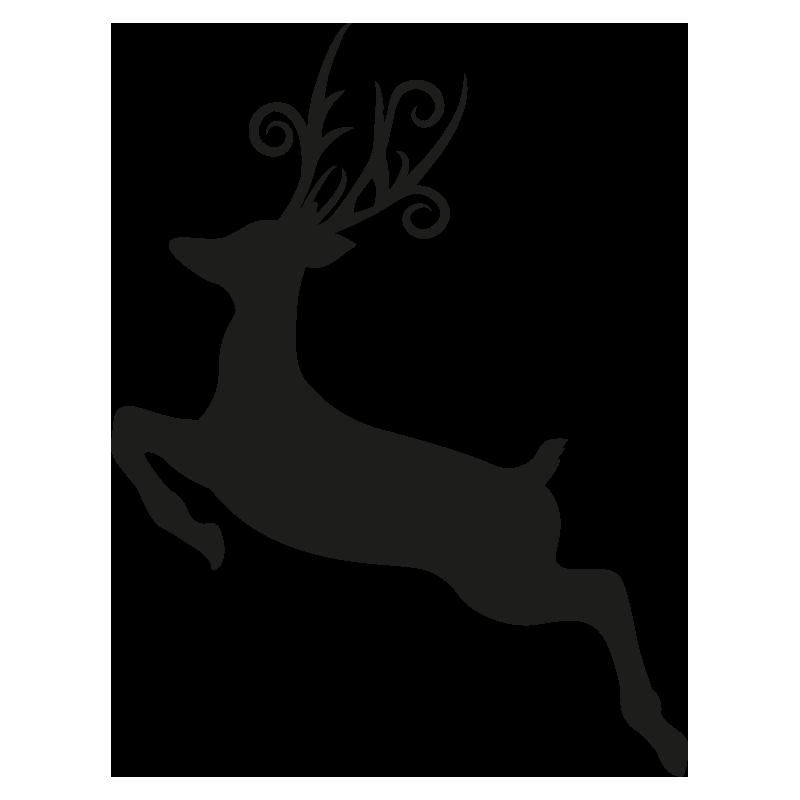 Les Renne Du Pere Noel.Stickers Renne Du Père Noël Color Stickers