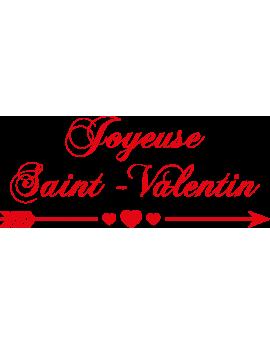 Stickers phrase joyeuse saint valentin