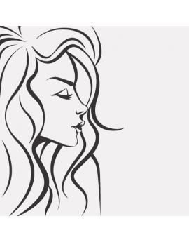 Stickers femme visage cheveux long