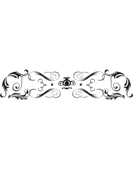 Stickers tête de lit arabesque moderne
