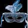 Stickers masque carnaval noir bleu