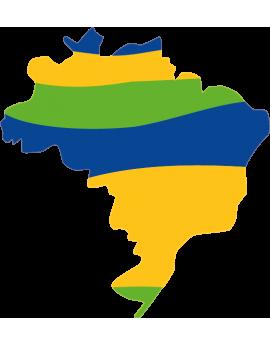 Stickers map monde Amérique du sud Brésil