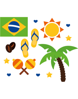 Stickers kit carnaval Brésil
