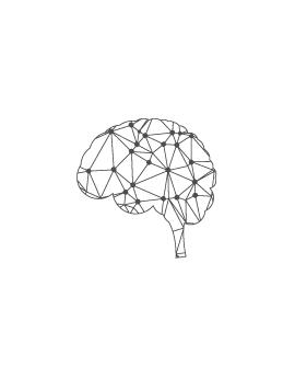 Stickers cerveau polygonal moderne design