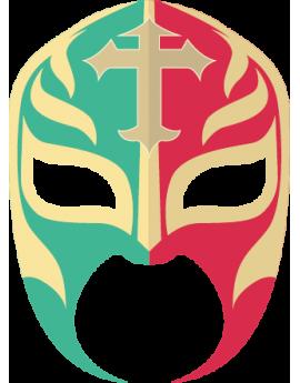 Stickers masque carnaval héro de catch