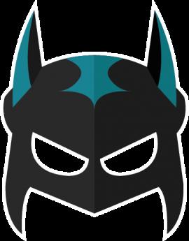 Stickers masque de carnaval Batman